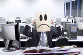 Frustrated anonymous businessman — Stock Photo