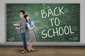 Group of student back to school — Stock Photo
