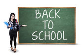 Student and Back To School text — Stock Photo