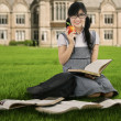 Female student studying outdoors 1 — Stock Photo #50577381