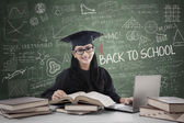 Postgraduate studying in class — Stock Photo