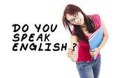 Student learning english 1 — Stock Photo