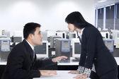 Teamwork fight in office — Stock Photo