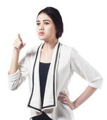Bossy expression of asian businesswoman — Stock Photo
