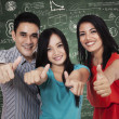 Group of students showing thumbs up 3 — Stock Photo #51033973