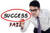 Businessman choose to success — Photo