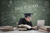 Postgraduate studying in class 3 — Stock Photo