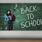 Student celebrate back to school — Stock Photo #51420641