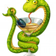 Snake on cup — Stock Photo