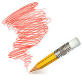 Bleistift-schattierung. handgezeichnete — Stockfoto
