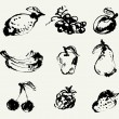 Set of fruits — Vector de stock #16834331