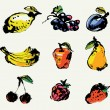 Set of fruits — Imagen vectorial