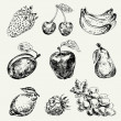 Royalty-Free Stock Imagem Vetorial: Set of fruits
