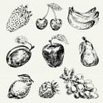 Набор фруктов — Cтоковый вектор