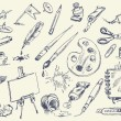 Office supplies — Imagen vectorial