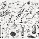 чертеж карандашом — Cтоковый вектор