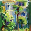Crimean sketch in gouache - Stock Photo