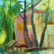 crimean sketch in gouache — Stock Photo