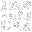 Children play with toys - Imagen vectorial