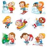 Winter holidays — Stock Vector
