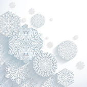 3D Abstract Snowflakes — Stock Vector