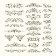 Vector set of calligraphic design elements — Stok Vektör #17702155