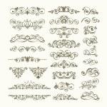 vector verzameling van kalligrafische ontwerpelementen — Stockvector