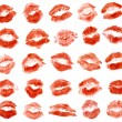 Lipstick kiss — Stock Photo