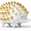 Ceramic hedgehog figurine — Stock Photo