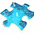 Pool in form of puzzle — Stock Photo #17833161