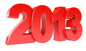 Red new year 2013 — Foto Stock