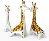 Ceramic giraffe figurine — Stock Photo