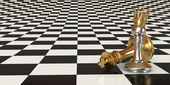 Pawn puts checkmate — Stock Photo