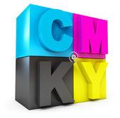 CMYK concept — Stock Photo