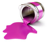 Spilled Paint Cans — Stock Photo