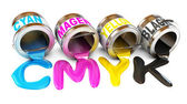 Concetto di CMYK — Foto Stock