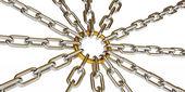 Chain. 3d — Stock Photo
