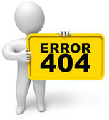 Error 404 not found — Stock Photo