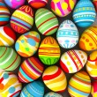Happy Easter. Background with painted eggs — Stock Photo #37869391
