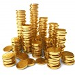 A pile of gold coins — Stock Photo