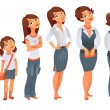 Stock Vector: Generations woman. Stages of development