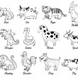 Chinese astrology — Vector de stock
