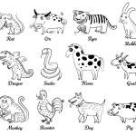 Astrología china — Vector de stock