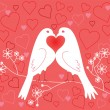 Lovebirds. Valentine's Day — Stockvektor