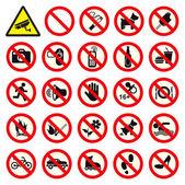 Non vietato nessun segnale di stop — Vettoriale Stock