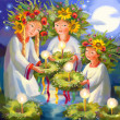 Stock Photo: Summer solstice. Midsummer Day. IvKupala