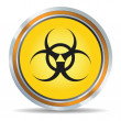 Biohazard icon - Stock Vector