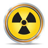 Radiation icon — Stockvektor