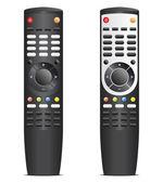 Black remote control — Stock Vector
