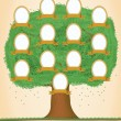 Genealogical tree. Green tree - Stok Vektr